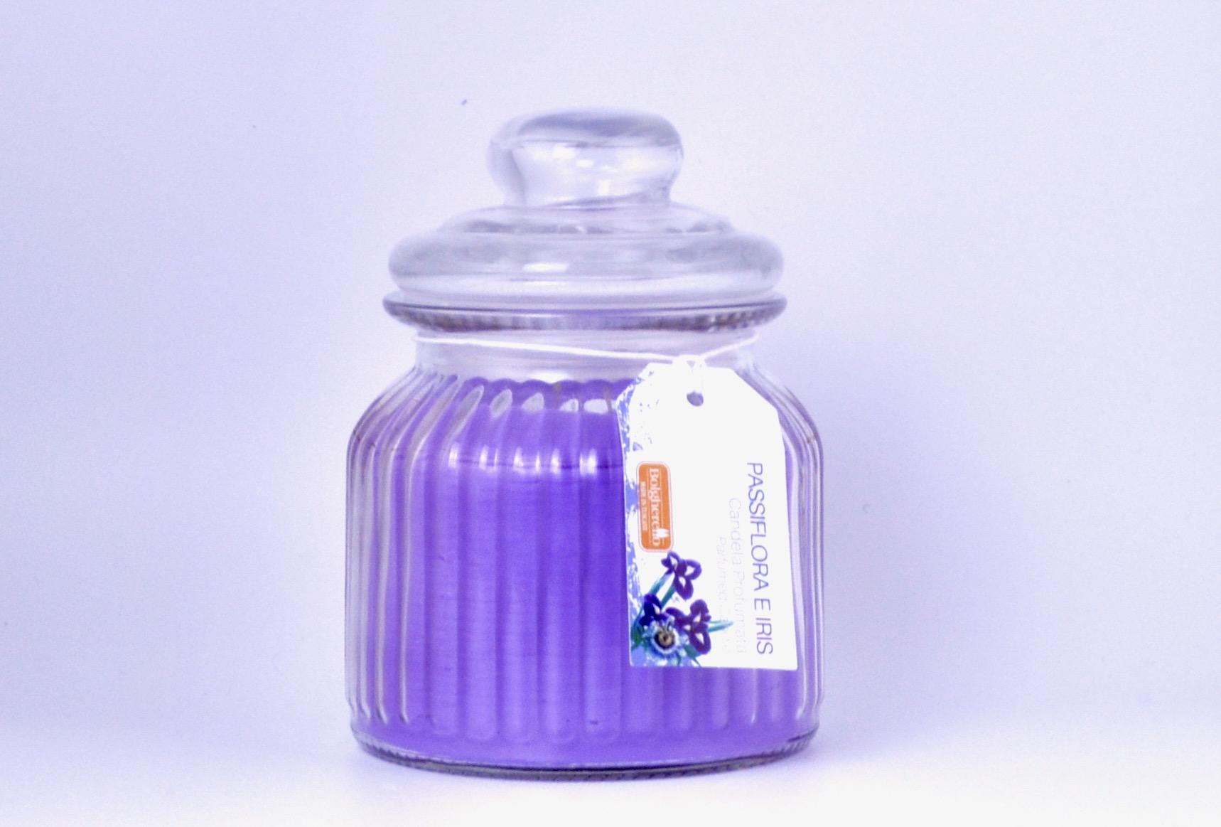 candela profumata Passiflora e iris