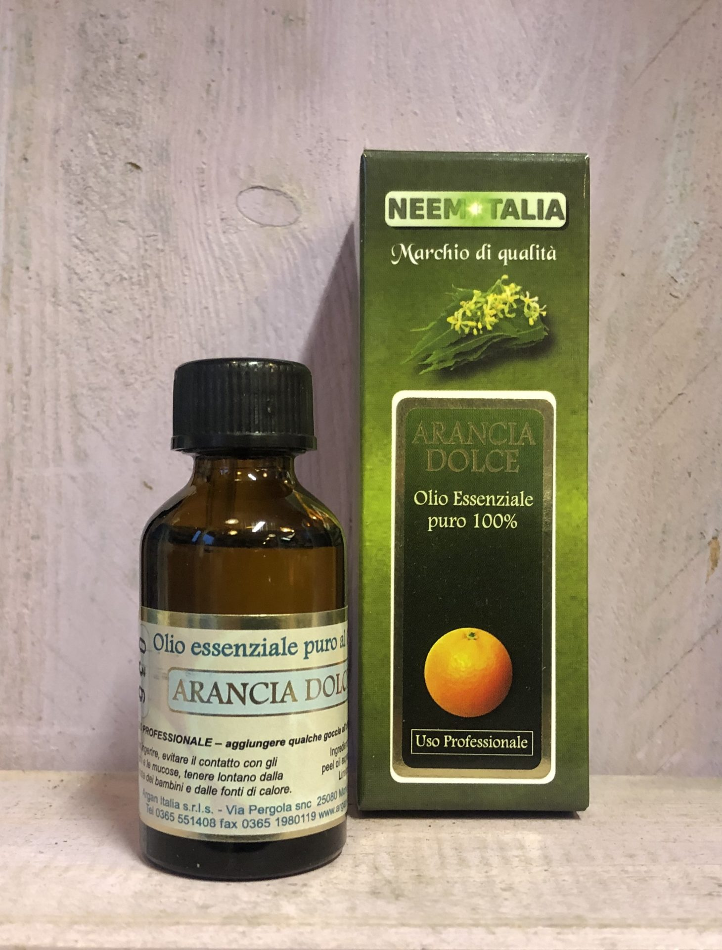 olio essenziale arancia dolce