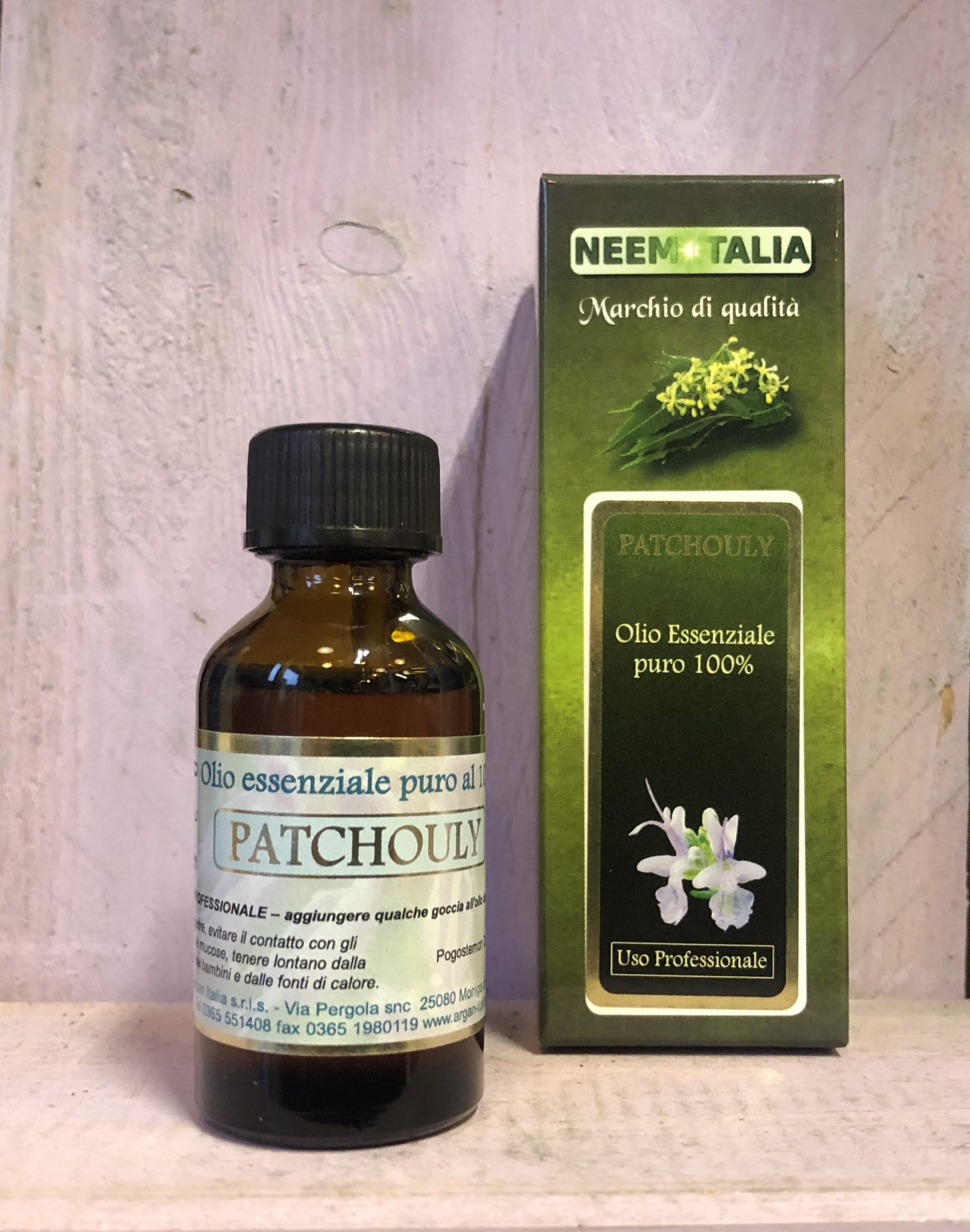 Olio essenziale di Patchouly